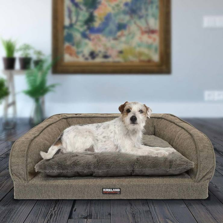 ordinary rectangular photo kirkland bed beds pet signature cuddler x costco dog of