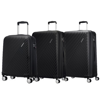 American Tourister Visby 3 Piece Hardside Suitcase Set, Black