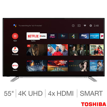 Toshiba 55UA2B63DB 55 Inch 4K Ultra HD Smart TV