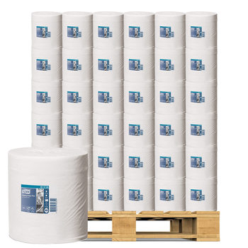 Tork Wiping Paper Plus CentreFeed in White, 6 x 157.5m Pallet Deal (30 Units)