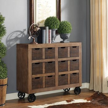 Martin Furniture Two-Tone Rustic Wooden Accent Cabinet