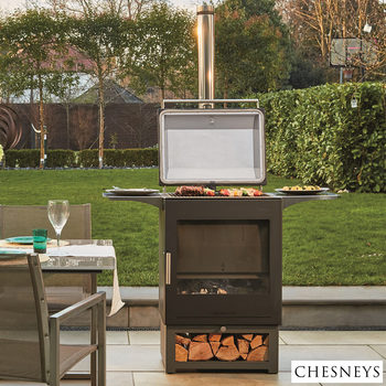 Installed Chesneys Heat & Grill Outdoor Heater and Barbecue