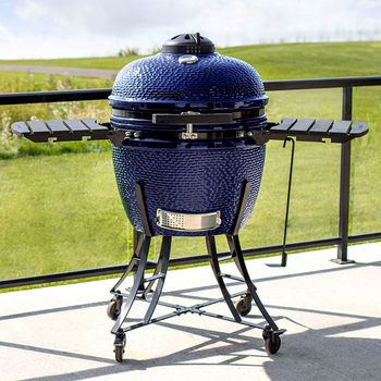 "Louisiana Grills  24"" (60 cm) Ceramic Kamado Charcoal Barbecue - In 3 Colours"