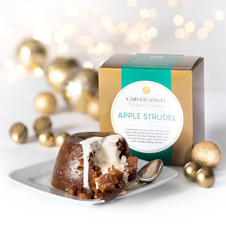 The Carved Angel Apple Strudel Christmas Pudding, 908g ...