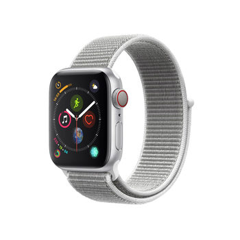 Apple Watch Series 4, MTVC2B/A, GPS & Cellular, 40mm Silver Aluminium + Seashell Sport Loop
