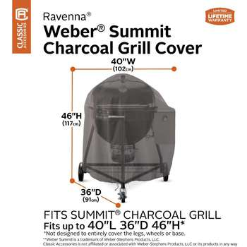 Classic Accessories Ravenna Charcoal Kettle Barbecue Grill Cover