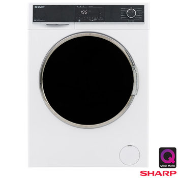 Sharp ES-HFH814QW3, 8kg, 1400rpm, Washing Machine, A+++ Rating in White