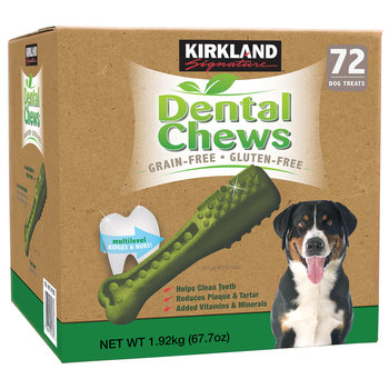 Kirkland Signature Dental Chews Dog Treats, 72 Pack