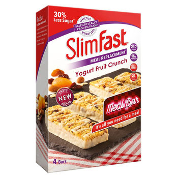 SlimFast Yoghurt Fruit Crunch Meal Replacement Bars, 16 x 60g
