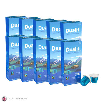 Dualit Decaf Aluminium Nespresso Compatible Coffee Pods, 100 Servings