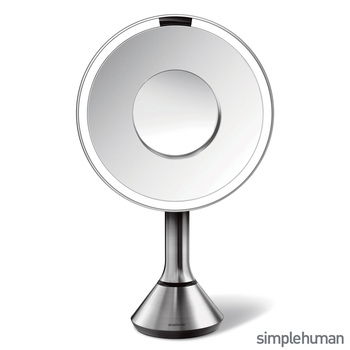 "simplehuman 8"" Round Magnification Sensor Mirror, ST3200"