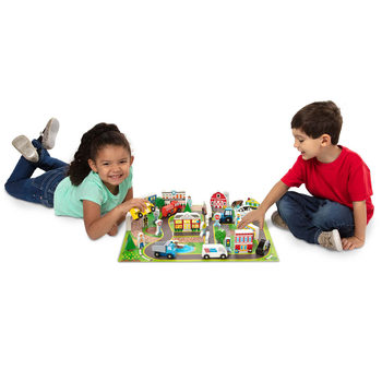Deluxe Wooden Town And Vehicle Play Set - 38 Pieces (3+ Years)