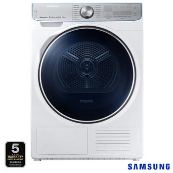 Samsung DV90N8289AW/EU, 9kg, HeatPump Tumble Dryer A+++ Rating in White
