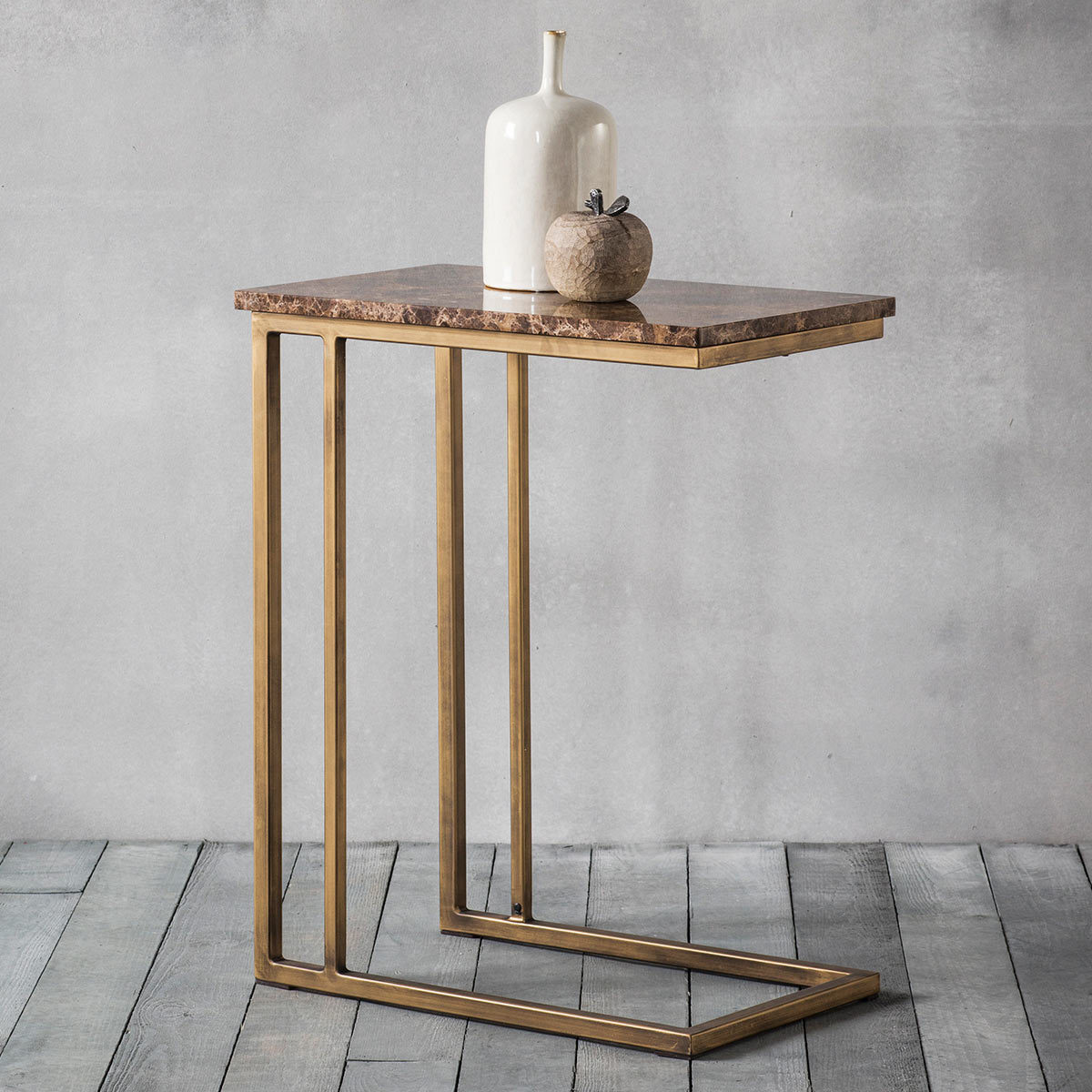 Picture of: Emperor Brown Marble Side Table Costco Uk
