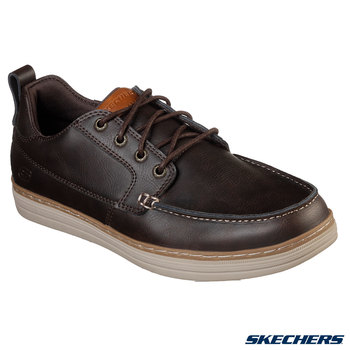 Skechers Heston Sendo Men's Leather Shoes in 2 Colours and 6 Sizes