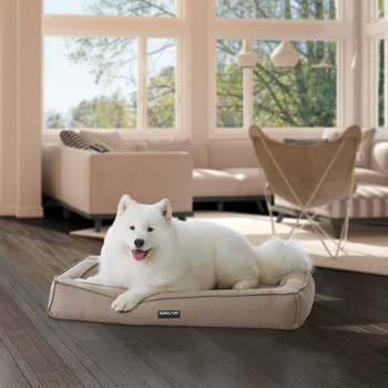 "Kirkland Signature 30"" x 40"" (76cm x 102cm) Orthopaedic Bolster Dog Bed with Cooling Memory Foam"