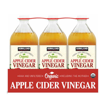 Kirkland Signature Organic Apple Cider Vinegar, 3 x 946ml