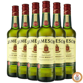 Jameson Irish Whiskey, 6 x 70cl