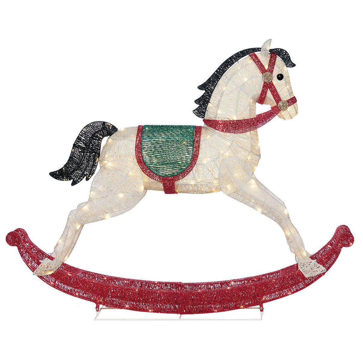 4ft 8 1 4m Christmas Led Rocking Horse With 180 Led Lights Costco Uk