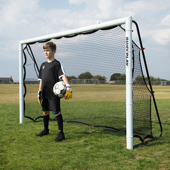 Quickplay Match Combo 8 x 5ft (244 x 152cm)  Football Goal and Rebounder