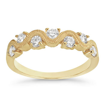 0.50ctw Round Brilliant Cut Diamond Ring, 14ct Yellow Gold