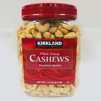 Kirkland Signature Whole Fancy Salted Cashews, 1.13kg