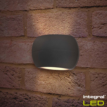 Integral Luxstone Outdoor Wall Light Pack of 2