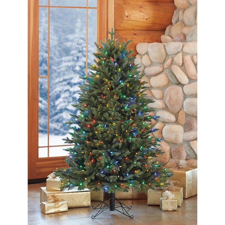 Artificial Christmas Trees Uk.Aspen 5ft 1 5m Pre Lit 350 Led Dual Colour Artificial Christmas Tree Costco Uk