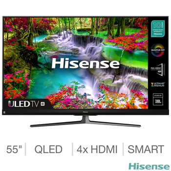 Hisense 55U8QFTUK 55 Inch QLED 4K Ultra HD Smart TV