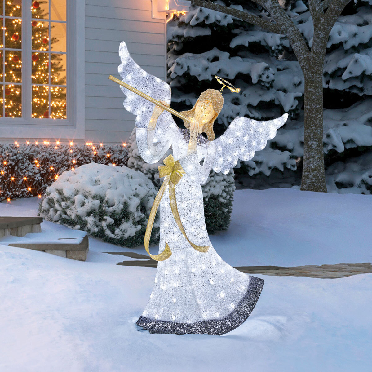 5ft 9 inches (1.8 m) Angel With 175 LED Lights | Costco UK