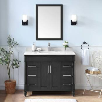 OVE Wesport 106 cm Single Vanity in Iron Grey