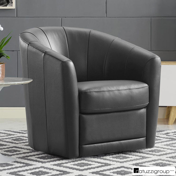 Super Natuzzi Grey Leather Swivel Accent Chair Costco Uk Squirreltailoven Fun Painted Chair Ideas Images Squirreltailovenorg