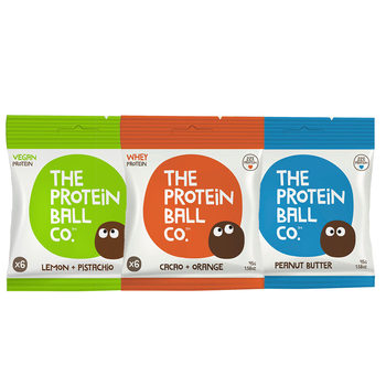 The Protein Ball Co. Protein Balls, 10 x 45g in 3 Flavours
