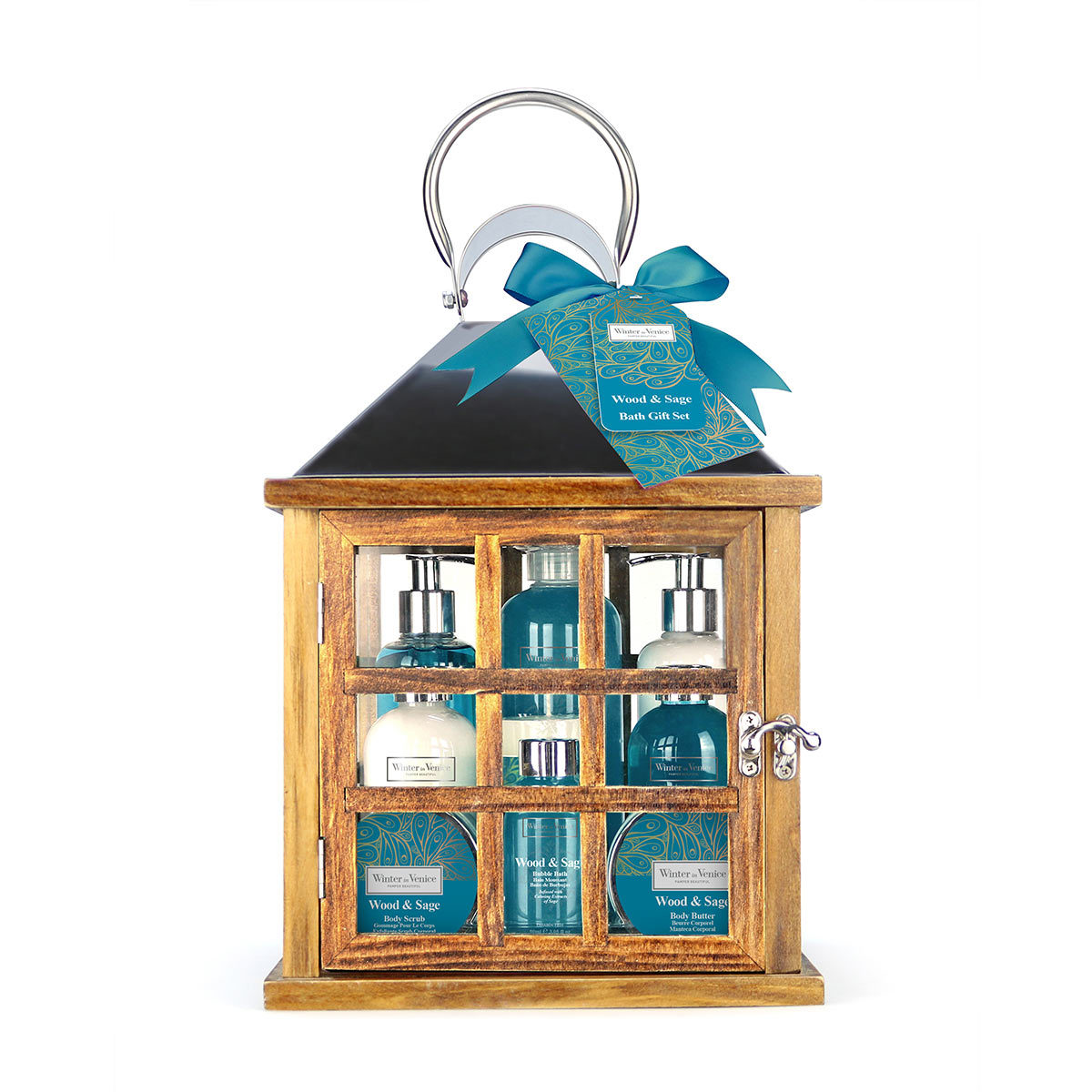 Winter in Venice Lantern Bath Gift Set - Wood & Sage  Costco UK