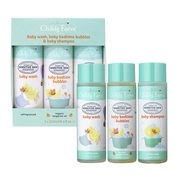 Childs Farm Baby Wash, Bedtime Bubbles & Shampoo, 3 x 250ml