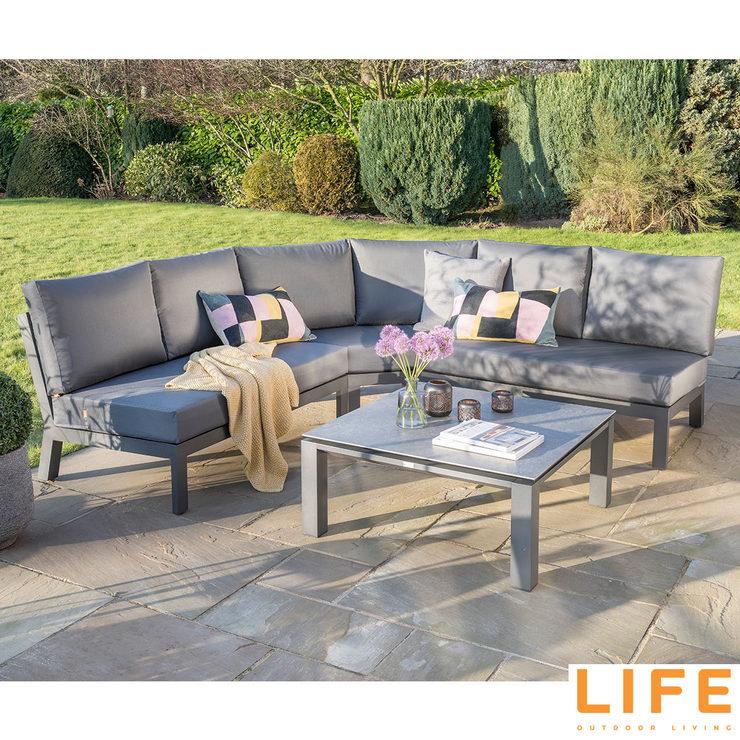 Life Outdoor Living Kata 4 Piece Lounge Coffee Set Costco Uk