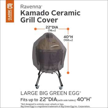 Classic Accessories Ravenna Large Ceramic Kamado Barbecue Cover