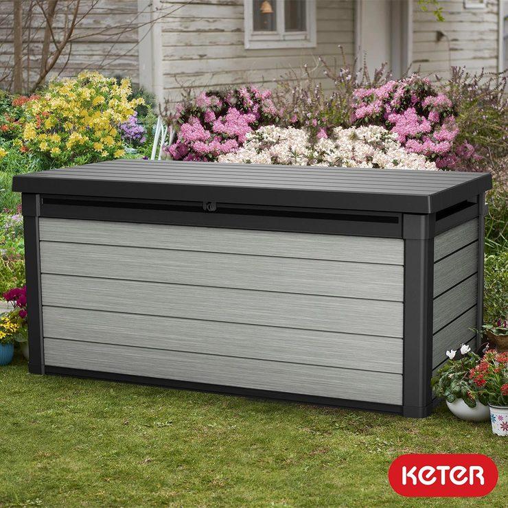 Keter Denali 570 Litre Wood Look Duotech Outdoor Storage Deck Box