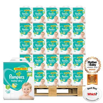 Pampers Baby Dry Nappies Size 7, 42 x 116 Jumbo Packs
