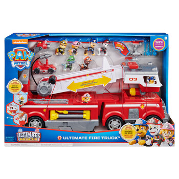 Paw Patrol Ultimate Rescue Fire Truck With Extendable 2ft Ladder and 6 Figures (3+ Years)