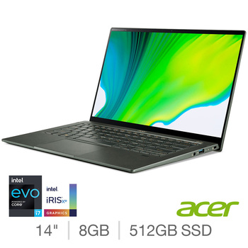 Acer Swift 5, Intel Core i7, 8GB RAM, 512GB SSD, 14 Inch Laptop, NX.A34EK.001