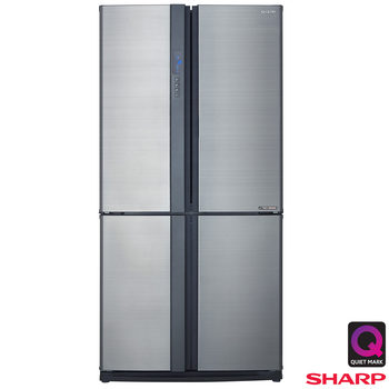 Sharp SJ-EX820FSL, Multidoor Fridge Freezer A++ Rating  in Silver