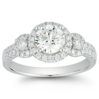 1.50ctw Round Brilliant Cut Diamond Ring, 18ct White Gold
