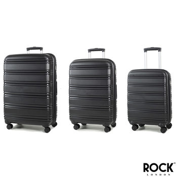 Rock Impact II 3 Piece Hardside Suitcase Set in Black