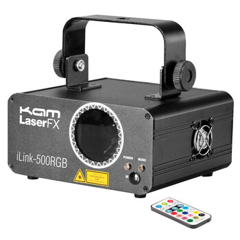 KAM KML301 500RGB Multi-Colour Laser Lights, 300mW