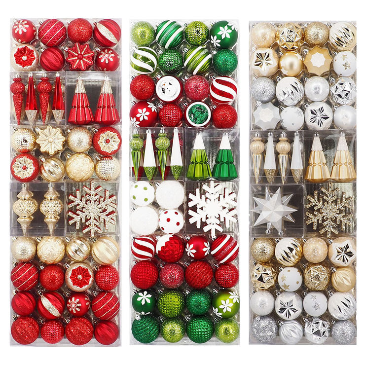 shatter resistant 52 piece ornament set in 3 colours costco uk shatter resistant 52 piece ornament set in 3 colours costco uk