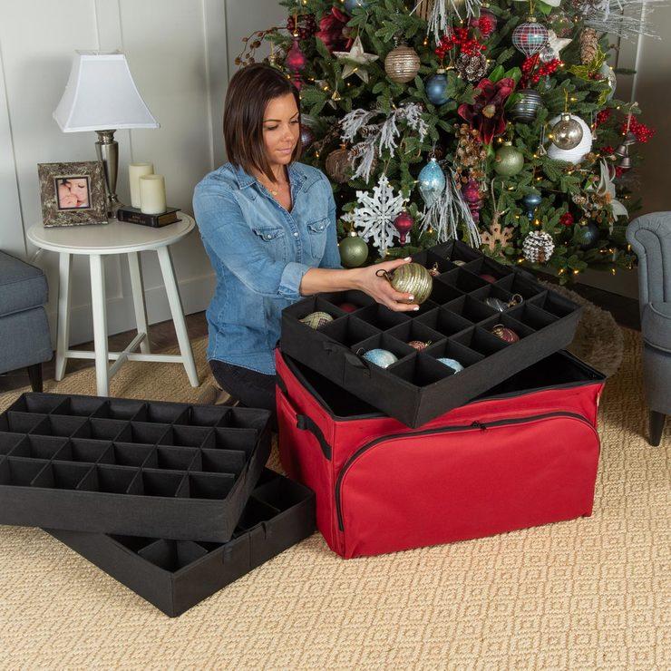 Christmas Tree Storage.Christmas Ornament 3 Tray Storage Bag Costco Uk