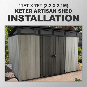 Installation for Keter Artisan 11ft x 7ft (3.2 x 2.1m) Shed