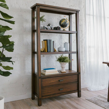 Lifestyle Image of Pike & Main Open Bookcase
