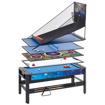 MightyMast Leisure Pentagon 6ft 5 in 1 Multigames Table